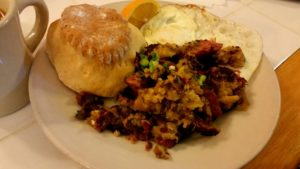 Corned Beef Hash at Cake Cafe NOLA